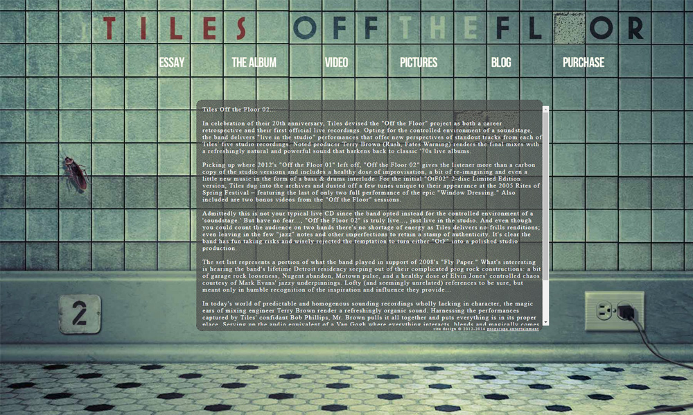 Tiles 'Off The Floor' Mini Site; http://www.tiles-music.com/offthefloor/